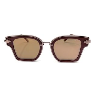 Karen Walker Rebellion Sunglasses Burgundy C157